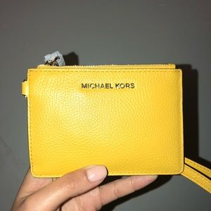 a22751b684f3 Michael Kors Bags   Mercer Colorblock Pebbled Leather Coin Purse ...